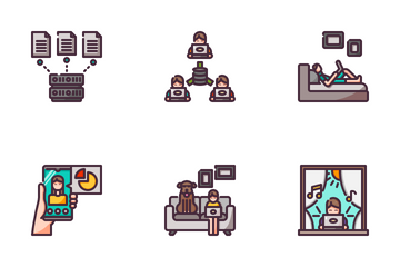 Working From Home Icon Pack