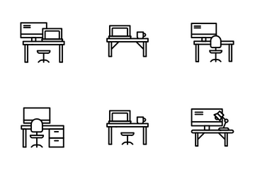 Working Place Icon Pack