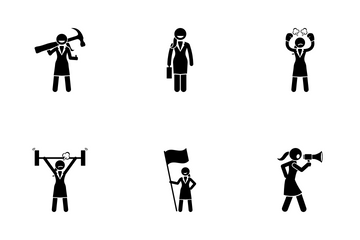 Working Woman Icon Pack