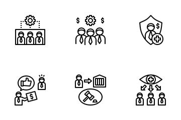 Workmen Compensation Icon Pack