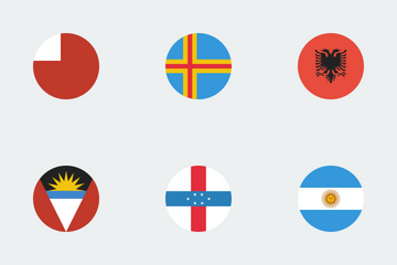 World Circular Flags Icon Pack