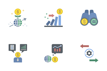 World Economic Recovery Icon Pack