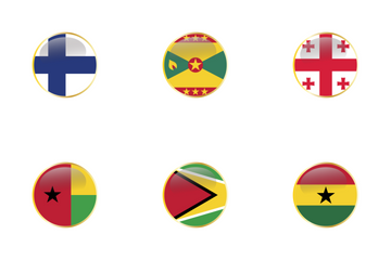 World Flags Circular Icon Pack