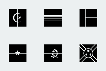 World Flags Glyphs Icon Pack