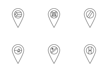 World Flags Map Markers Icon Pack