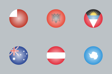 World Glossy Flags Icon Pack