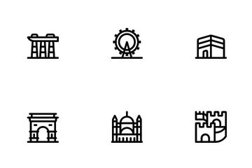 World Landmark Icon Pack
