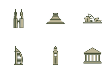 World Landmarks Icon Pack