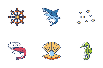 World Oceans Day Icon Pack