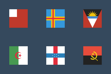 World Square Flags Icon Pack