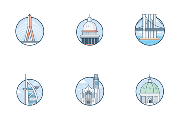 World Top Cities Icon Pack