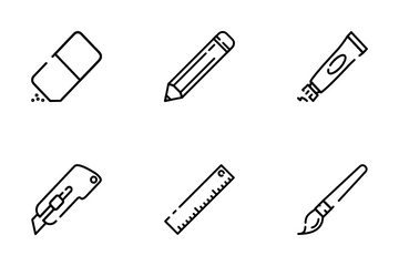 Writing And Art Tools Icon Pack