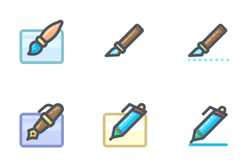 Writing Tools (Colored) Icon Pack