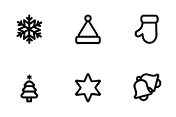 X-mas ( Outline ) Icon Pack