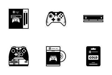 Xbox One Console (glyph) Icon Pack
