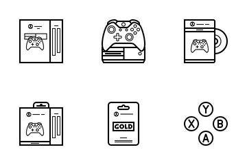 Xbox One Console (outline) Icon Pack