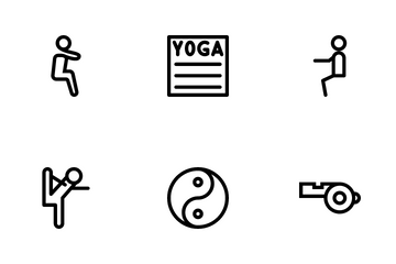 Yoga And Fitness Vol 2 Icon Pack