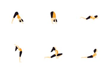 Yoga Flat Icon Pack