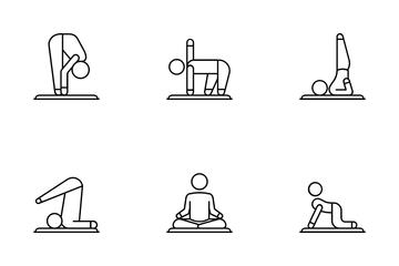 Yoga & Gymnastics Icon Pack