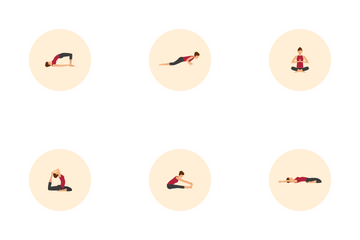 Yoga Poses Icon Pack