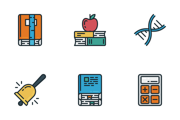 Zlico: Education #2 (Lineal Color) Icon Pack