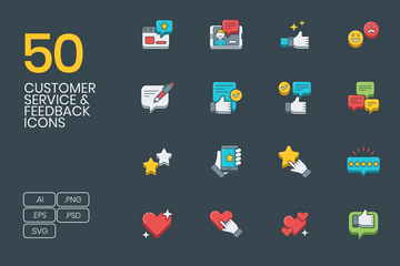Customer Survey And Feedback Icon Pack