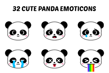 Cute Panda Emoticons Icon Pack