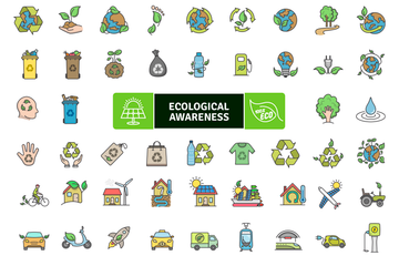 Ecological Awareness Icon Pack