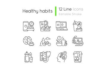 Healthy Activity Icon Pack