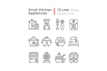 Small Kitchen Appliance Icon Pack