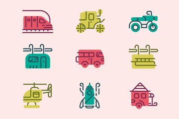 Transports Icon Pack