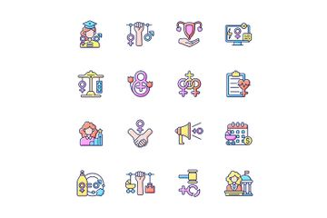 Women In Government Icon Pack