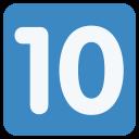 10 Ten Digital Icon