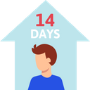 14 Day In Hospital Quarantine 14 Days Icon