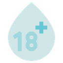 Blood Donation Medical 18 Plus Icon