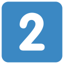 2 Two Digital Icon