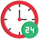 Clock Timing Full Day Working Icon