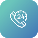 24 hour call service Icon