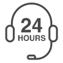 Hour Services Customer Service All Day Service Icon