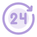 24 Hours Service Support Icon