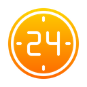 24 Hours Service 24 Hours Hours Icon
