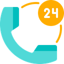 24 Hours Support Support Help Icon
