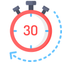 30 minutes delivery Icon