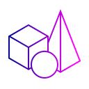 3 D Model Cube Icon