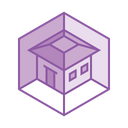 3 D Model House Icon