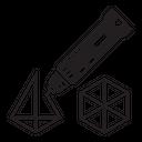 3 D Pen Laser Icon