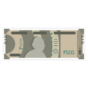 500 Rs Note Icon