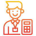 Businessman Accounting Calculator Icon