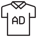Ads on shirt Icon