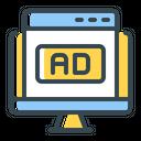 Advertising Banner Web Icon